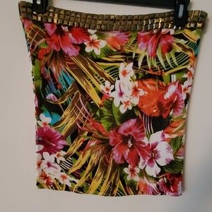 Cache Flowered Skirt - L